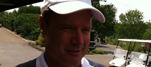 Kansas coach Bill Self participated in his golf tournament to benefit Boy Scouts on Monday and Lawrence Country Club.