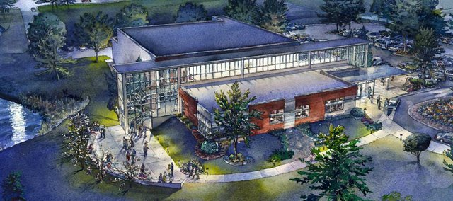Artist rendering of Theatre Lawrence's planned 300-seat theater. The organization has received donations from the Beach Foundation, Tensie Oldfather, The Sunderland Family Foundation and Bobby and Eleanor Patton.