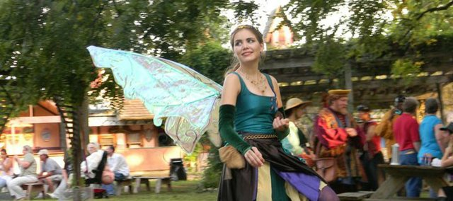 An architectural engineering student during the week, Erika O'Shea becomes Lady Titania, Queen of the Fae every weekend as part of the Kansas City Renaissance Festival.