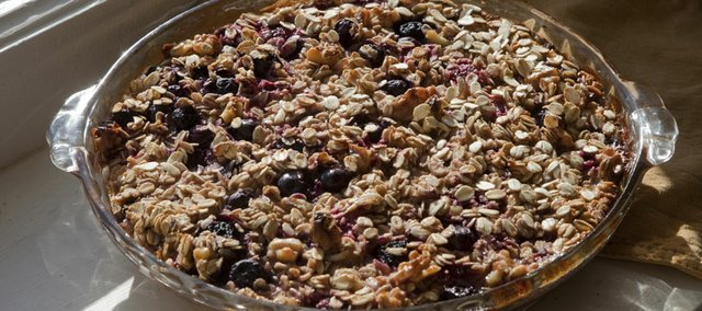 Apple-Berry Baked Oatmeal is a hearty twist on your everyday breakfast.