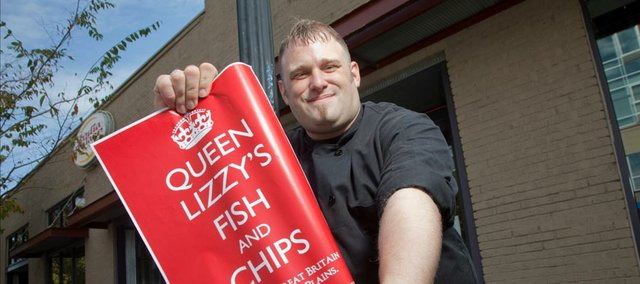 Matt Poulton, the new owner of Queen Lizzy's Fish and Chips will soon be serving up its namesake and other British fare at 125 E. 10th St., formerly the Tenth Street Vegetarian Bistro.