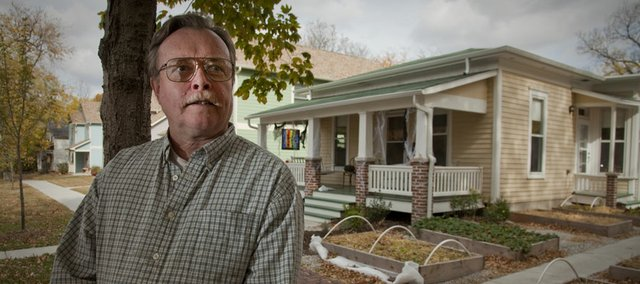 Dennis Brown is president of the Lawrence Preservation Alliance and a long time historic preservationist in Lawrence. His group helped save a historic home at 1120 Rhode Island St. in collaboration with the Tenants to Homeowners organization that helped a young couple acquire the house.