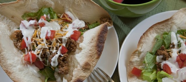 This Weeknight Taco Salad can be made in 30-minutes or less.
