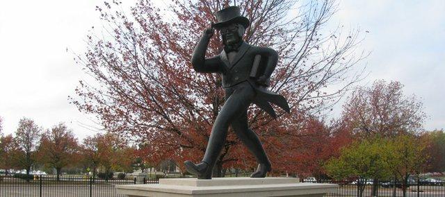 """Mr. Ichabod"" statue on Washburn University campus in Topeka."