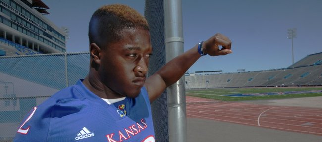 Captain Steven Johnson is one of 15 seniors who will play their last home game for Kansas University on Saturday, Nov. 12, 2011 at Memorial Stadium.