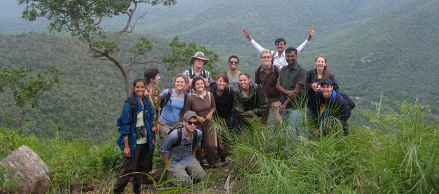 A picture of the KU India study abroad group at a viewpoint in MM Hills, in Karnataka, in 2010. Kansas University ranks third among its current Big 12 Conference peers in the number of students studying abroad, according to a report to be released today.
