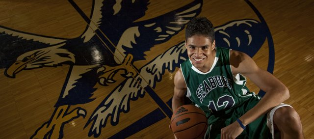 Seabury senior guard Thomas Diaz was offered a scholarship to play basketball at the University of Texas-Pan American, despite having only played one year at the junior varsity level.