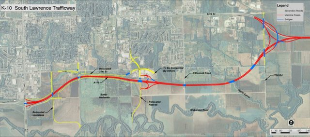 The state is looking to purchase land to complete the South Lawrence Trafficway. Environmental groups are hoping to block the completion of the project.