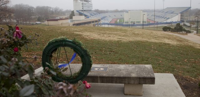 "Former KU football coach Don Fambrough, was honored by former players in 2007 when they presented him with a memorial bench in his name, overlooking Memorial Stadium from near the Campanile. Nearby, the bench is a wreath with a blue ribbon saying ""Beloved Coach."" Fambrough — a noted hater of all things Missouri — died in September. Saturday could mark the end of the rivalry between his Jayhawks and the team he loved to hate, leaving KU fans two marked voids."