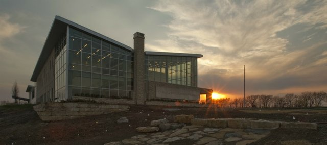 The new Kansas State University building at the Kansas Bioscience Park in Olathe. Photo taken April 13, 2011.