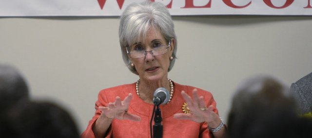 U.S. Secretary of Health and Human Services Kathleen Sebelius, seen here in a file photo from June 2011, declined to make emergency contraception more easily available, a move that stunned groups which traditionally have supported her.