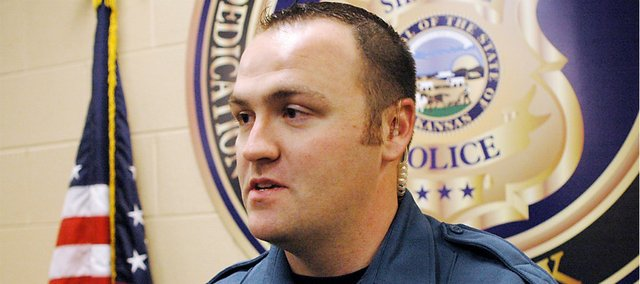 Shawnee Police Officer Nick Shurmantine talks about finding twin brothers, possibly minutes from death, trying to commit suicide on their birthday by funneling carbon monoxide into their car. Shurmantine, who came across the car Tuesday night, said he was glad he interrupted the men's suicide attempt but that he wished he knew more about what drove them to make the decision.