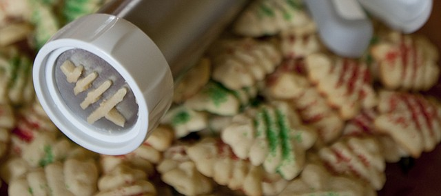 A cookie gun (or press) can be a handy tool for a Christmas cookie enthusiast.
