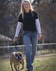 Jen Frazier is a dogwalker, sitter and trainer for pets. She also has an English bulldog named Tyson.