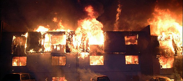 An early morning fire in October 2005 at Boardwalk Apartments, 524 Frontier Road, killed three residents and left many homeless. Now, the apartments' former owners say their insurance company should have paid an additional $1 million in claims.