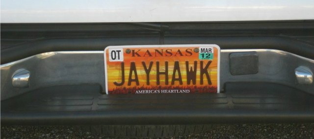 "Pamela Barker of Minneapolis is the owner of the coveted ""JAYHAWK"" license plate. Before a 2010 law limiting vanity plates went into effect, 42 people had license plates honoring the Kansas University mascot."