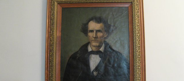 "This portrait of ""Wild"" Sen. James Lane has been donated to the Lecompton Historical Society. The painting of Lane, a free-state firebrand who lived in Lecompton in the Civil War era, had been kept in his family and most recently had hung in a home in the eastern United States."