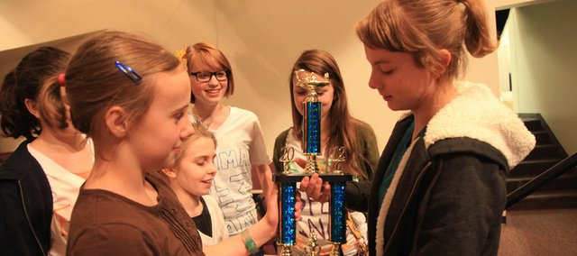 Emma Steimle, eighth-grader at west middle school and winner of the Douglas County Spelling Bee,