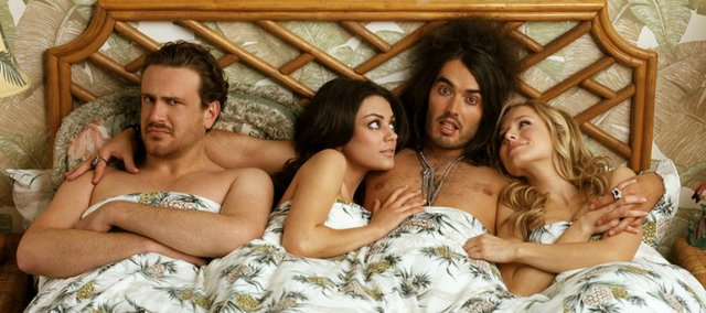 """""""Forgetting Sarah Marshall,"""" starring Jason Segal, Mila Kunis, Russell Brand and Kristin Bell, follows a love-lorn musician's quest for true love."""
