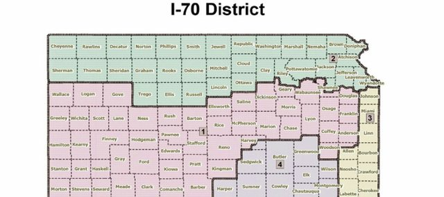 State Rep. Anthony Brown's redistricting plan puts Douglas County in the massive 1st Congressional District.