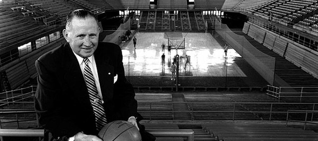 The legendary KU coach Phog Allen in the 1950s.