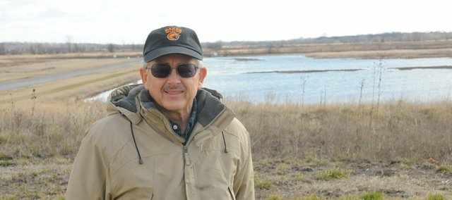 Roger Boyd, manager of the Baker Wetlands south of Lawrence, was honored Saturday in Salina as the Kansas Conservationist of the Year by the Kansas Wildlife Federation.