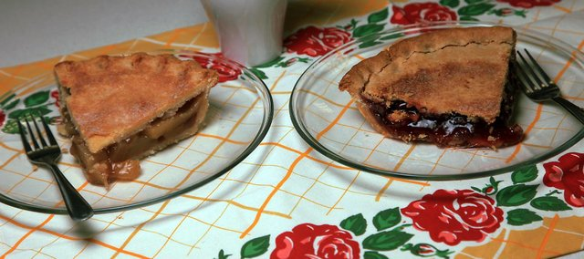 Goods from Washington, Kan.-based MarCon Pies, like these caramel apple and strawberry delicacies, are a local favorite.