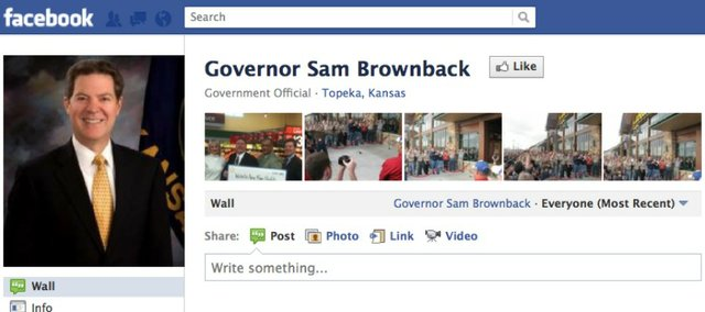 Gov. Sam Brownback's Facebook page has been deluged by comments left by people critical of his stance on abortion. More than 1,000 comments were left Thursday.