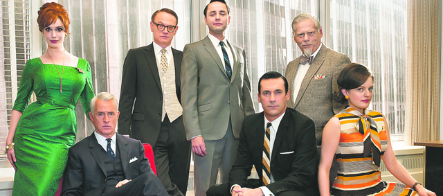 "The fifth season of ""Mad Men,"" the stylized AMC drama about the men and women who work in Madison Avenue advertising in the 1960s, premieres at 8 p.m. Sunday. The cast includes, from left, Christina Hendricks, John Slattery, Jared Harris, Vincent Kartheiser, Jon Hamm, Robert Morse and Elisabeth Moss."