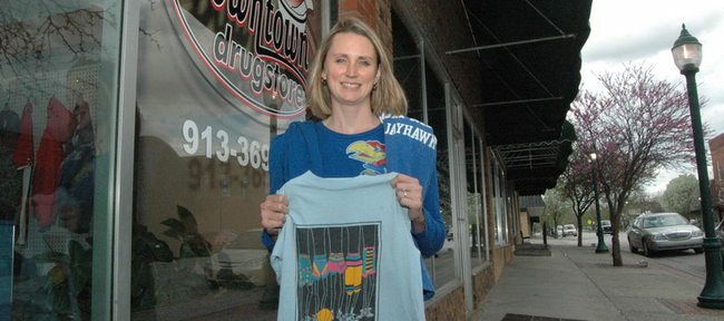 Sarah Breuer is a wee bit superstitious when it comes to Kansas University basketball. Trusty shirts have varying levels of luck and so, on occasion, she'll change out of one shirt and into another if KU is in a slump.