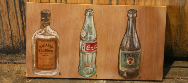 """""""Works in Progress"""" by Jesse Gray will show at the Bourgeois Pig's """"99 Bottles"""" exhibit."""