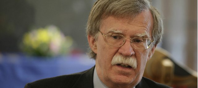 John Bolton, a former U.S. ambassador to the United Nations, spoke Wednesday, April 4, 2012, at Kansas University.