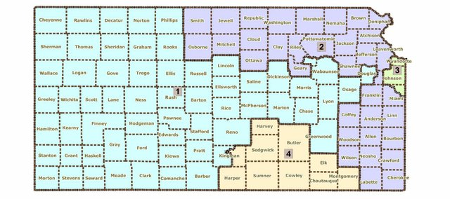 A proposed congressional redistricting plan put together by state Rep. Clay Aurand, R-Belleville, who is vice chairman of the House Redistricting Committee, would place Lawrence in the 1st U.S. House district. The Legislature again will take up the matter of redistricting when the wrapup session starts April 25.