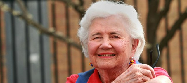 "Everything that Scottie Lingelbach has done in her life — from her World War II service to her years of volunteering in Lawrence and at Kansas University — she traces back to her junior high school's motto: ""Enter to learn, go forth to serve."""