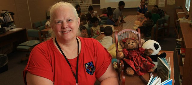 Darcy Schild has worked for the Lawrence school district for 32 years. She will be retiring from her position as library media specialist at Schwegler School this year.