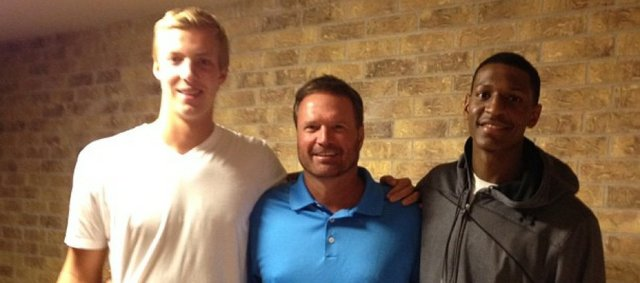 Andrew White, right, posted this photo of him, Zach Peters, left, and KU coach Bill Self to Instagram on Sunday, June 3, 2012.