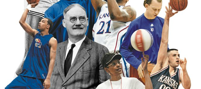 For the second installment in a summer series, Journal-World sports staffers picked their ideal opponents — all figures from Kansas basketball history — for a hypothetical game of H-O-R-S-E. Some of the Jayhawks chosen included Wilt Chamberlain, Scot Pollard, Sasha Kaun, Drew Gooden, James Naismith, Markieff Morris, Lynette Woodard, Joe Dooley and Greg Ostertag.
