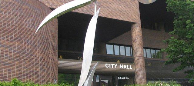 Lawrence City Hall, Sixth and Massachusetts streets.