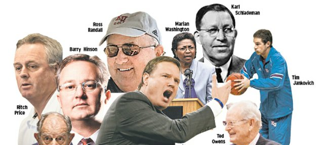 Journal-World staff picks for favorite coaches with Kansas University ties.