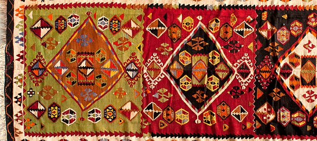 A special exhibition of Turkish kilims, on display this week at the Spencer Museum of Art, expresses the history, culture and tradition of the people who crafted them.