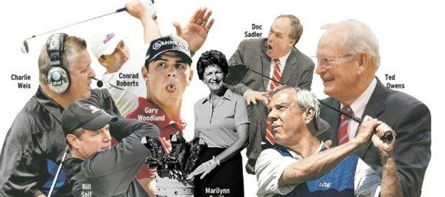 Journal-World staff picks for best golf scramble partners with Kansas University ties.