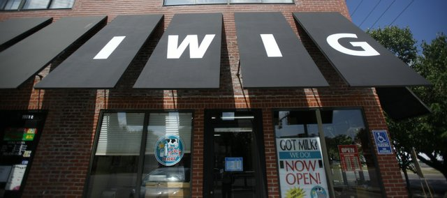 The Lawrence Iwig Family Dairy store opened in 2012 at 1901 Mass. In addition to fresh milk, butter and ice cream from the family dairy in Tecumseh, the store sells other local produce and food items.