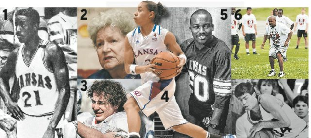According to the J-W staff, 20 of the most underrated Kansas University athletes are: 1. Milt Newton. 2. Marilynn Smith. 3. Gabe Toomey. 4. Angel Goodrich. 5. Willie Pless. 6. Isaac Byrd. 7. Kevin Pritchard. 8. Scott Huffman. 9. Mark Williams. 10. Michael Center. 11. Bob Allison. 12. June Henley. 13. Wayne Simien. 14. Chris Harris. 15. Mario Kinsey. 16. Xavier Henry. 17. Jim Bausch. 18. Ron Warner. 19. Eric Chenowith. 20. Bill Whittemore.