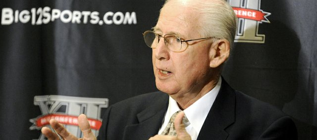 Kansas State football coach Bill Snyder addresses the press at Big 12 media days on Monday in Dallas.
