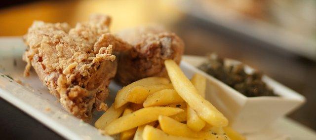 The gluten-free chicken from Oh Boy! Chicken, 1006 Massachusetts.