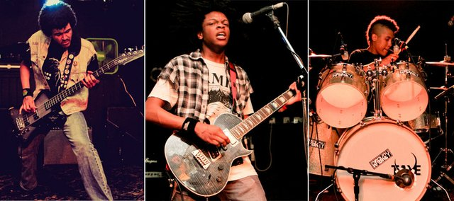 Radkey is made of brothers, from left, Isaiah, 17, Dee, 19, and Solomon, 15.