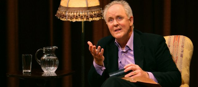 "Actor John Lithgow will perform his acclaimed one-man show, ""Stories by Heart,"" Monday, Sept. 17, at the Lied Center."