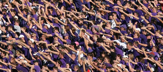 Kansas State fans will begin to have to pay sales tax Oct. 15 for their purple and silver gear.