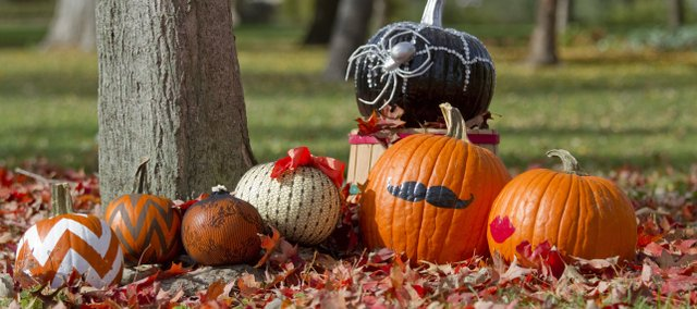 From simply painted to embellished, there are lots of no-carve options for decorating pumpkins.