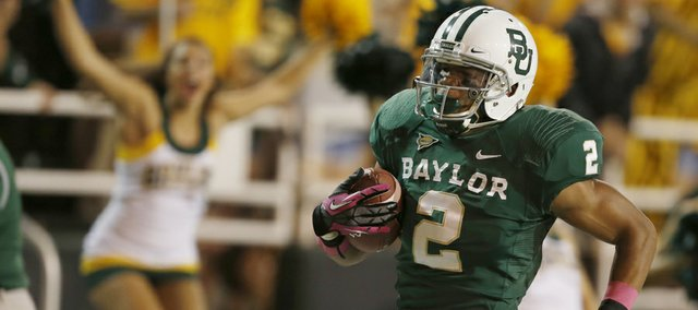 Baylor wide receiver Terrance Williams runs into the end zone for a touchdown against TCU on Oct. 13 in Waco, Texas. Kansas University coach Charlie Weis said limiting Williams will be on the Jayhawks' minds this weekend as they travel to face the Bears in Waco.